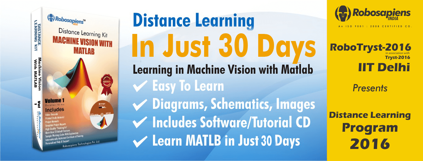 Distance Learning In Machine Vision With Matlab