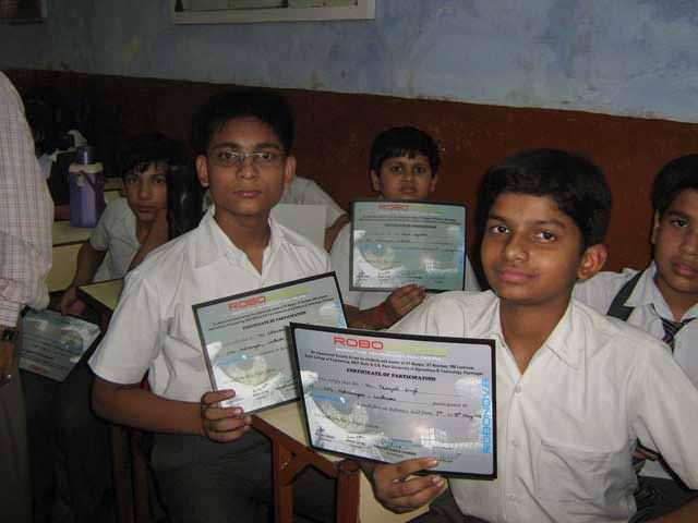 robotics training certificate and awards